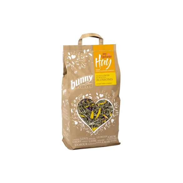 my favorite Hay from nature conversation meadows SUNFLOWER & MALVA BLOSSOMS 100g